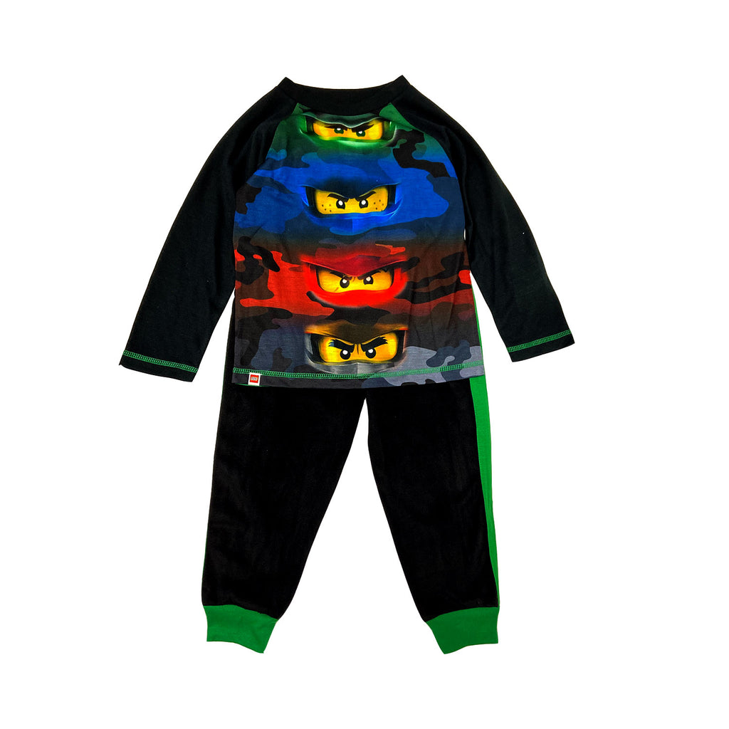 Lego Ninjago Boys Poly Top with Fleece Pants Pajamas Set