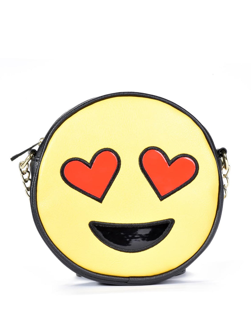 OLIVIA MILLER EMOJI HEART EYES CROSS BODY