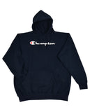 Champion Men's Big and Tall Script Logo Pullover Hoodie