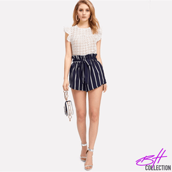 Belted Ruffle Short