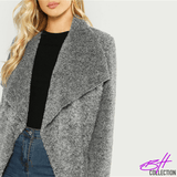 Waterfall Collar Knit
