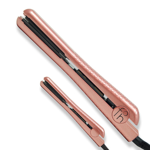 Fahrenheit Heat Wave Collection 1.25 Inch & 0.5 Inch Travel Size Double Trouble Ceramic Flat Iron Set