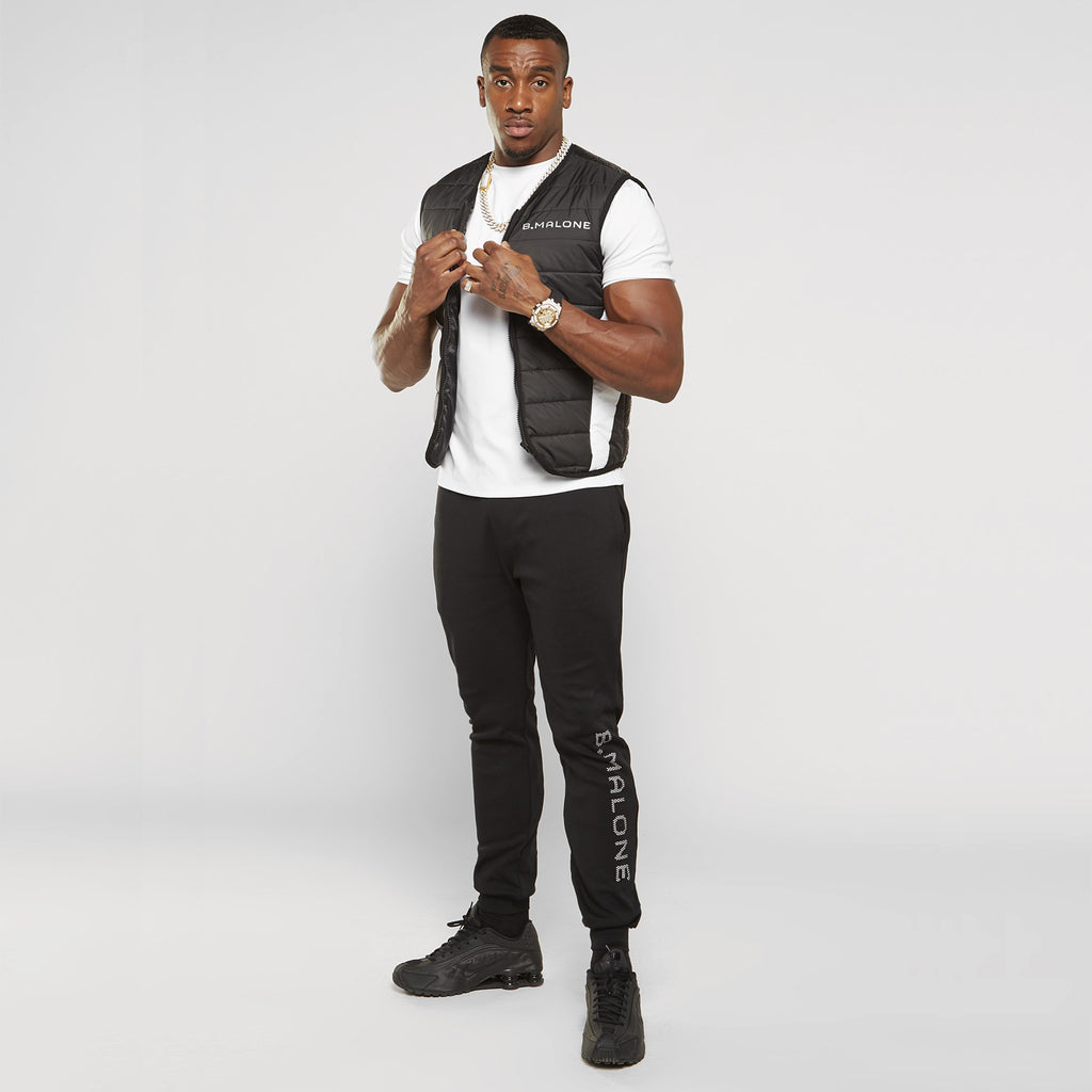 Quilted Logo Gilet | Black