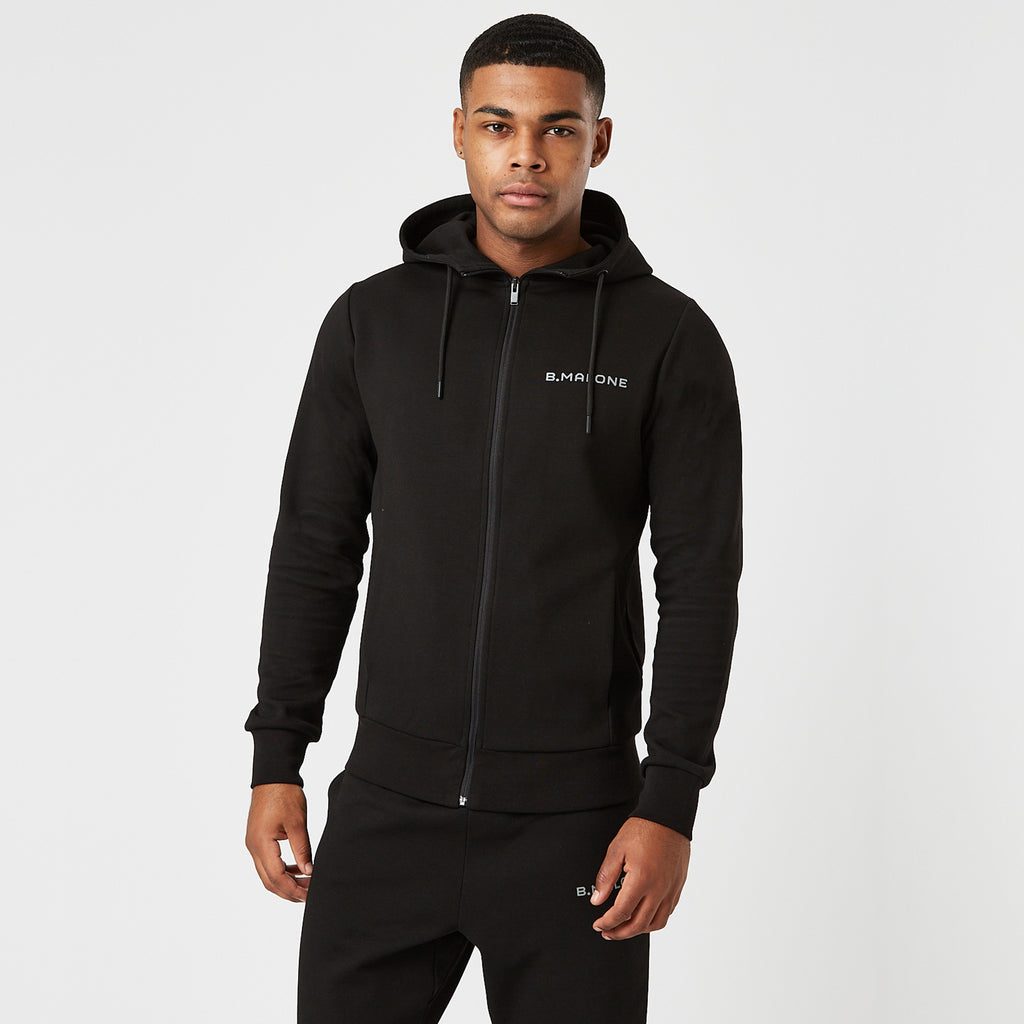 Full Zip Tech Hoodie | Black