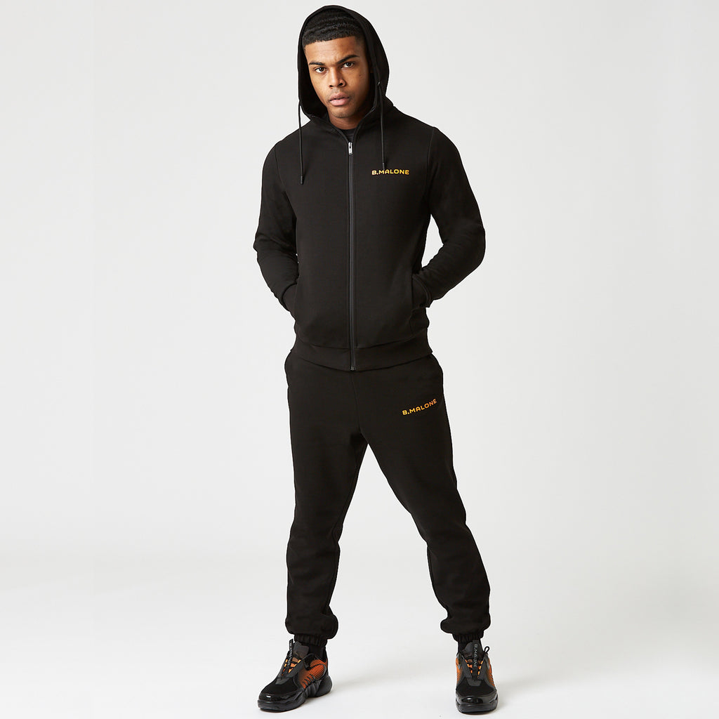 Tech Joggers | Black/Orange