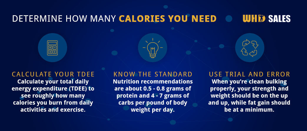 determine how many calories you need graphic