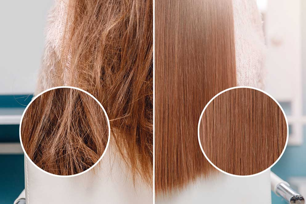 hair magnified comparison