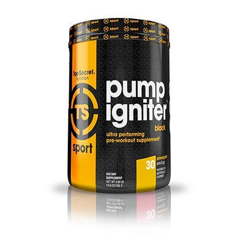 Top Secret Nutrition Pump Igniter Black - WHDSales, Inc