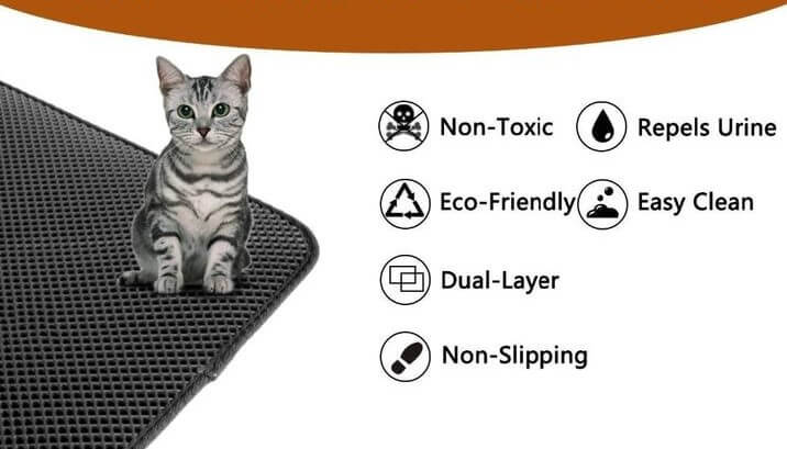 anti slip honeycomb design cat mat