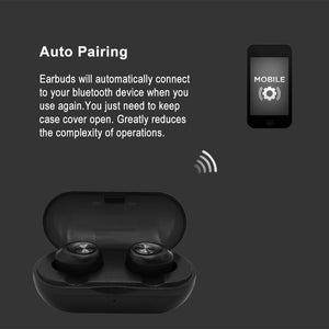 Updated 2019 Gruhn-Acoustics Dual Wireless Earbuds for Android and iPhone