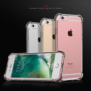 Super Shockproof Clear Silicone Soft Case for iPhone