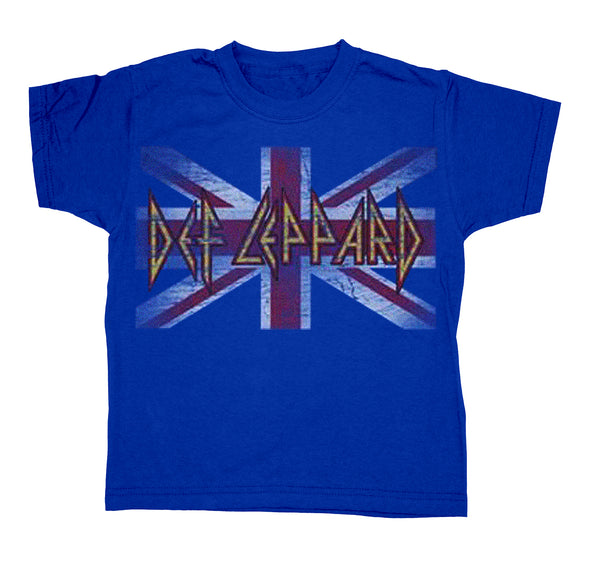 Def Leppard Flag Blue Toddler Tee