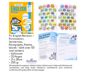 9+ English Revision - Punctuation, Sentences, Paragraphs, Poems, Words - With over 50 cool stickers