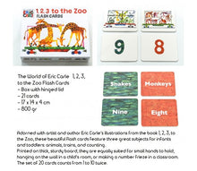 Load image into Gallery viewer, The World of Eric Carle™ 1, 2, 3, to the Zoo Flash Cards