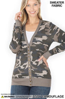 Camo Cardigan- Dusty Camouflage