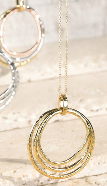 Three Ring Pendant- gold