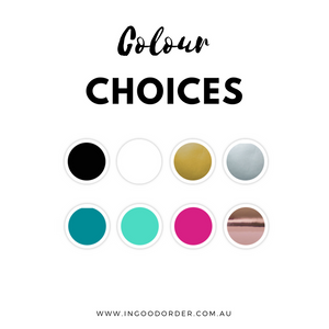 custom organised label colour choice options