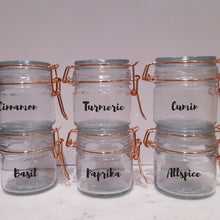 clip lock rose gold jar label