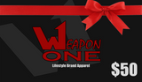 Weapon One Gift Card