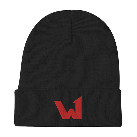 W1 Embroidered Beanie
