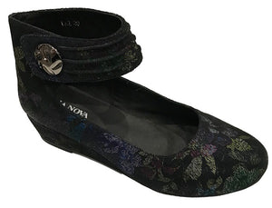BUY LADIES LEATHER SHOES - LAZ - GREEN MULTI PRINT - VAGO -  Via Nova/Ferracini Outlet