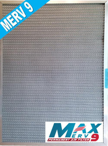 High Dust Arrestance MaxMERV9 5-Stage Permanent, Reusable, Cleanable HVAC Filter