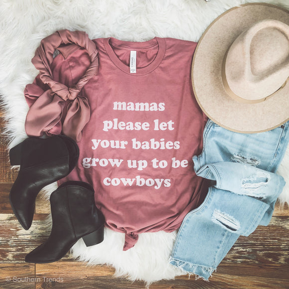 Mamas Please- Mauve Tee