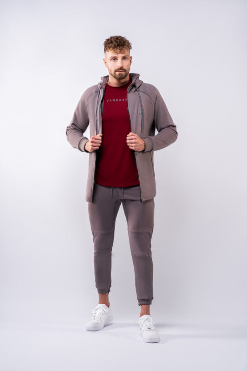 Vandrap-Side-Pocket-Jogginghose-grau-vorne
