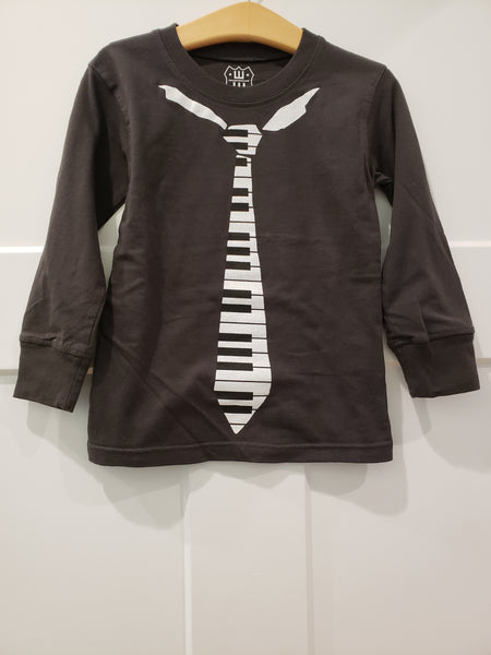 Piano Tie Long Sleeve Shirt