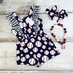 P & L - Batter Up! Romper