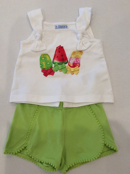 Popsicle 2pc Shorts & Tank Set