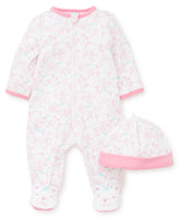 Pink Bear Footie