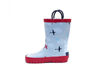 Airplane rainboots