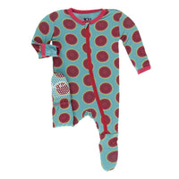 Print Footie Neptune Watermelon