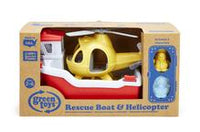 Green Toys Rescue Boat & Helicopter