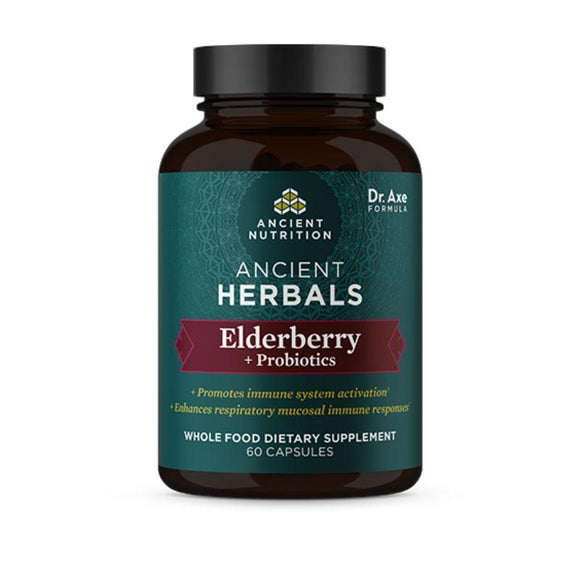 Ancient Nutrition, Elderberry+Probiotics, 60 Capsules - 816401025234 | Hilife Vitamins