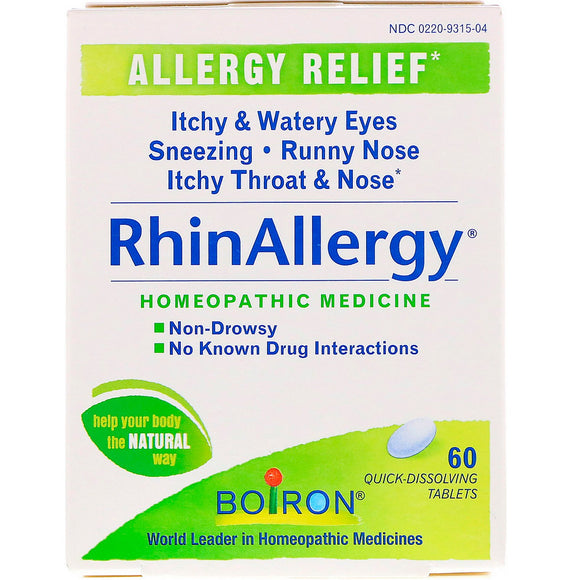 Boiron, Rhin Allergy Tablets, 60 Tablets - 306969315040 | Hilife Vitamins