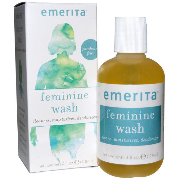 Emerita, Feminine Cleansing & Moisturizing Wash, 4 Oz - 356163303008 | Hilife Vitamins