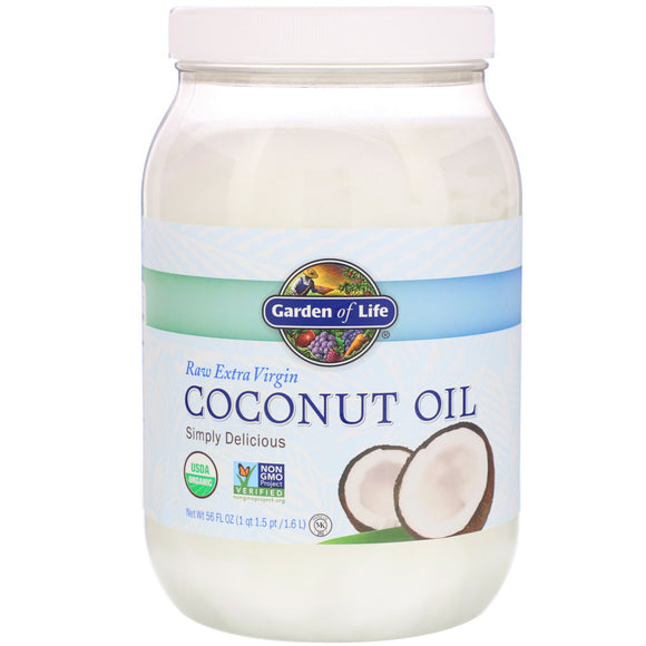 Garden Of Life, Raw Organic Extra Virgin Coconut Oil, 56 Oz - 658010120258 | Hilife Vitamins