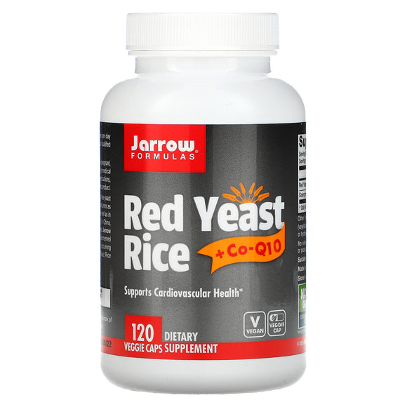 Jarrow Formulas, Red Yeast Rice + Co-Q10, 120 Veggie Caps - 790011330011 | Hilife Vitamins