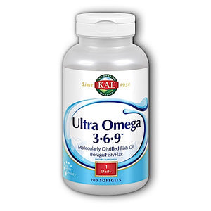 Kal, Omega 3-6-9 Ultra 1200 Mg, 200 Softgels - 021245107156 | Hilife Vitamins