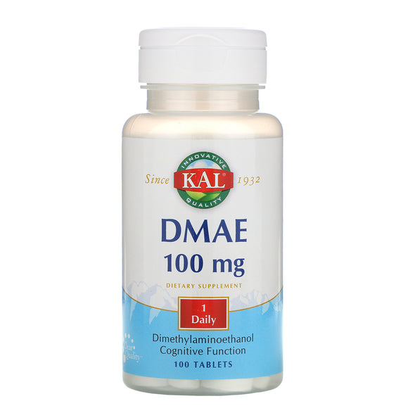 Kal, DMAE 100mg, 100 Tablets - 021245667155 | Hilife Vitamins