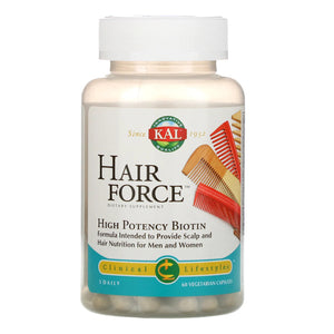 Kal, Hair Force, 60 Capsules - 021245723080 | Hilife Vitamins