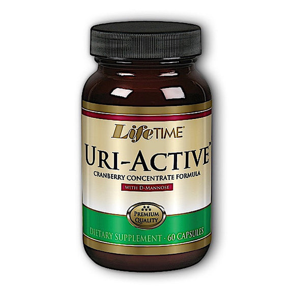 Lifetime, Uri-Active With D-Mannose & Cranberry, 60 Capsules - 053232281013 | Hilife Vitamins