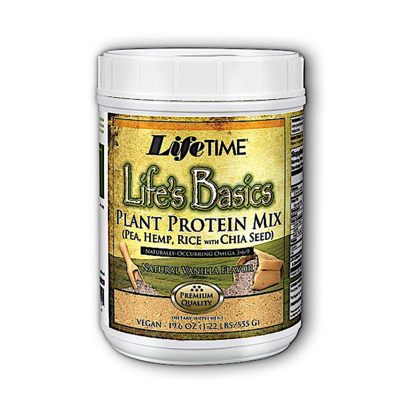 Lifetime, Life's Basics Plant Protein Powder, 1.6 Lbs - 053232900501 | Hilife Vitamins