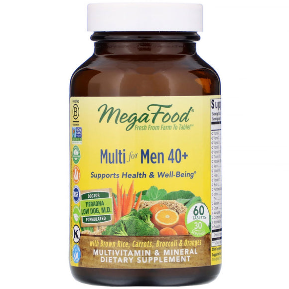 Megafood, Multi For Men 40+, 60 Tablets - 051494103173 | Hilife Vitamins