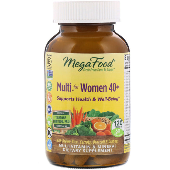 Megafood, Multi For Women 40+, 120 Tablets - 051494103227 | Hilife Vitamins