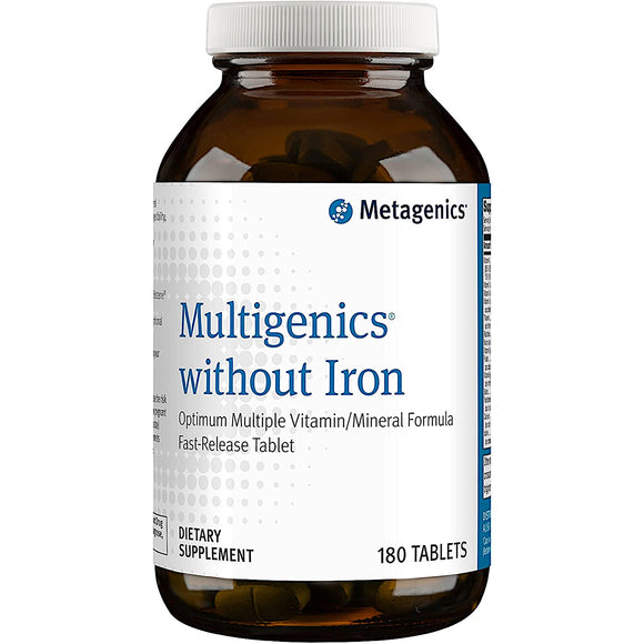 Metagenics, Multigenics without Iron, 180 Tablets - 755571024510 | Hilife Vitamins