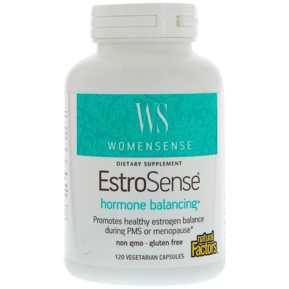 Natural Factors, Womensense Estrosense, 120 Capsules - 068958049564 | Hilife Vitamins