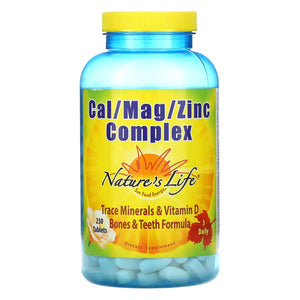 Nature's Life, Cal/Mag/Zinc 1000/600/15 Mg, 250 Tablets - 040647001930 | Hilife Vitamins